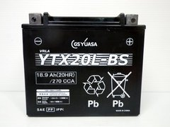 CTX20L-BS【YTX20L-BS】タイプ バイクバッテリー 1年間保証付き
